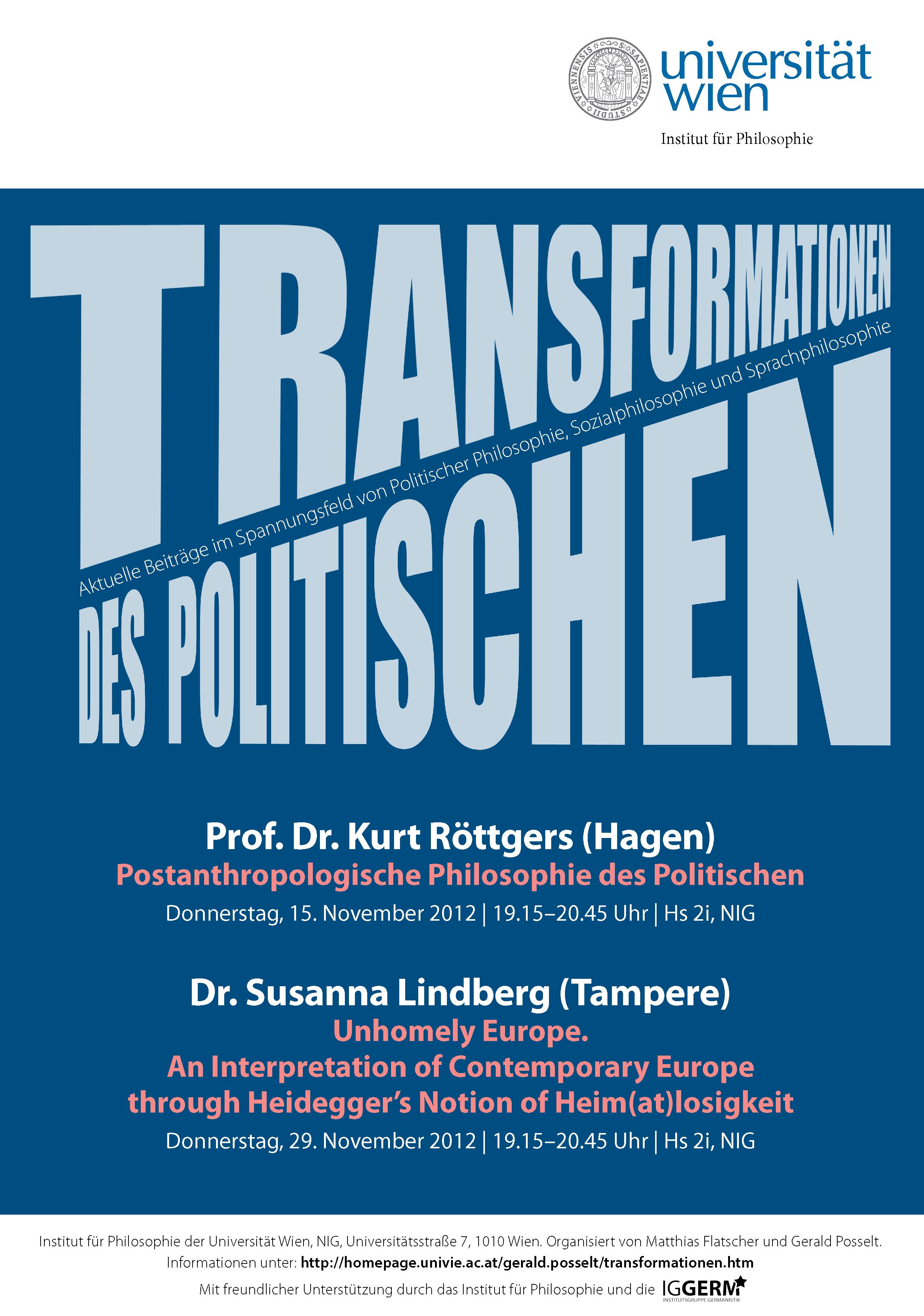 Transformationen des Politischen